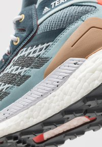 adidas Performance - FREE HIKER BOOST PRIMEKNIT SHOES - Hiking shoes - legend blue/solid grey/ash grey - 5