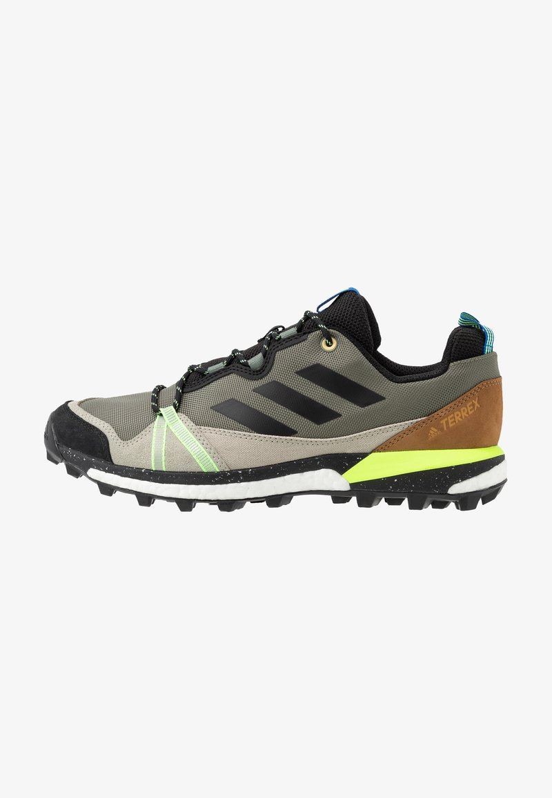 adidas Performance - TERREX SKYCHASER  - Hiking shoes - legend green/core black/signal green
