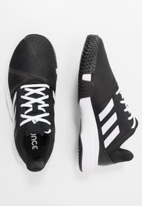 adidas Performance - COURTJAM BOUNCE - Multicourt tennis shoes - core black/footwear white/metallic silver - 1