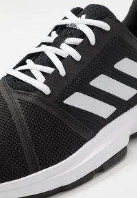 adidas Performance - COURTJAM BOUNCE - Multicourt tennis shoes - core black/footwear white/metallic silver - 5
