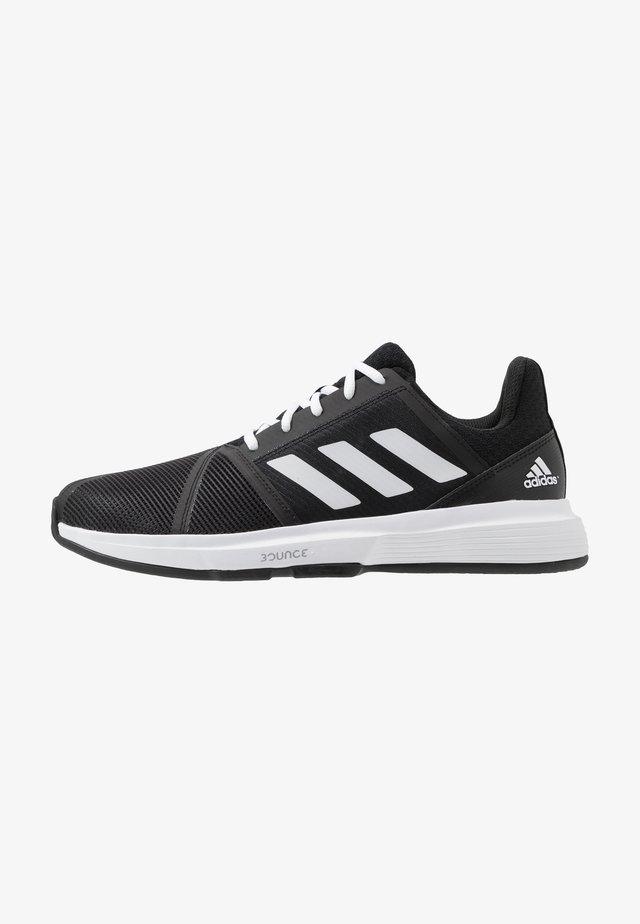 COURTJAM BOUNCE - Tennissko til multicourt - core black/footwear white/metallic silver