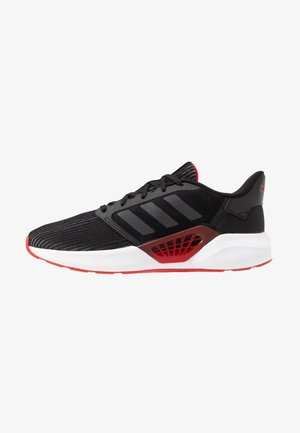 VENTICE - Neutral running shoes - core black/grey six/scarlet