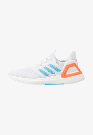 ULTRABOOST 20 - Neutral running shoes - footwear white/sharp blue/true orange