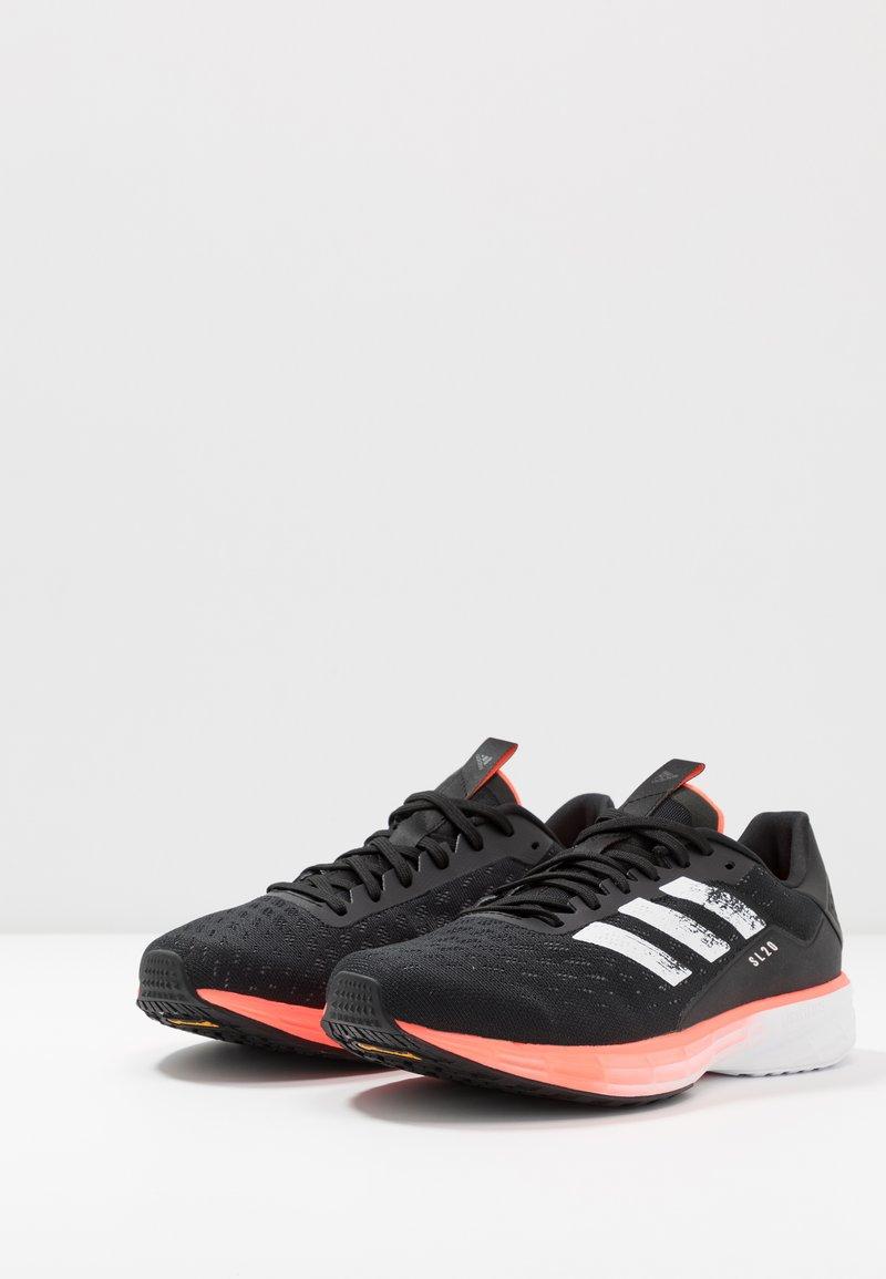 adidas Performance SL20 - Nøytrale løpesko - core black/footwear white/signal coral