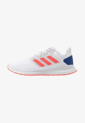 RUNFALCON - Chaussures de running neutres - footwear white/solar red/dash grey