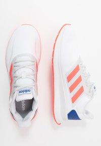 adidas Performance - RUNFALCON - Obuwie do biegania treningowe - footwear white/solar red/dash grey - 1