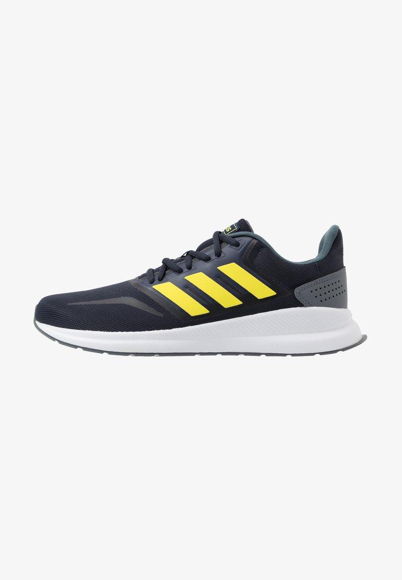 adidas Performance - RUNFALCON - Zapatillas de running neutras - legend ink/shock yellow/footwear white
