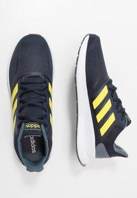 adidas Performance - RUNFALCON - Zapatillas de running neutras - legend ink/shock yellow/footwear white - 1