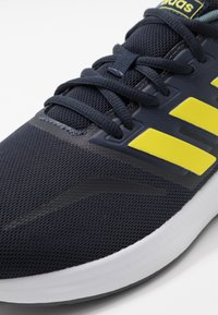 adidas Performance - RUNFALCON - Neutral running shoes - legend ink/shock yellow/footwear white - 5