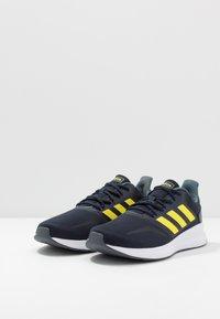 adidas Performance - RUNFALCON - Zapatillas de running neutras - legend ink/shock yellow/footwear white - 2