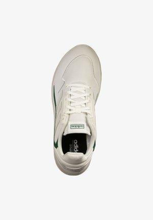 ADIDAS PERFORMANCE NEBZED SNEAKER HERREN - Neutral running shoes - glow white orban grey/core green