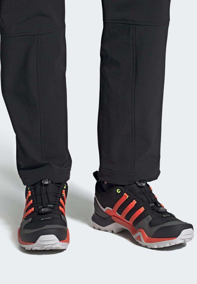 adidas Performance - TERREX SWIFT R2 GORE-TEX HIKING SHOES - Hiking shoes - black