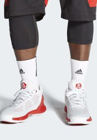 adidas Performance - D ROSE 10 SHOES - Basketball shoes - grey/red/white - 0