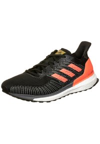 adidas Performance - SOLAR BOOST - Zapatillas de running estables - core black/signal coral/gold metallic - 3
