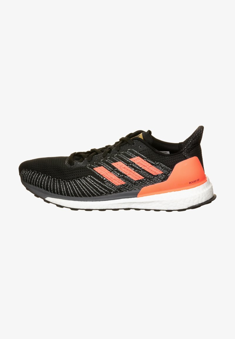 adidas Performance - SOLAR BOOST - Zapatillas de running estables - core black/signal coral/gold metallic