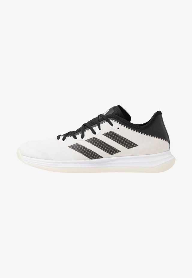 ADIZERO FASTCOURT  - Käsipallokengät - footwear white/core black/solar red