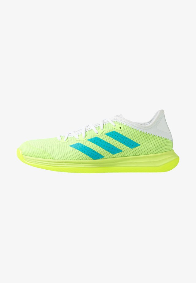 ADIZERO FASTCOURT  - Käsipallokengät - sigal green/signal cyan/footwear white