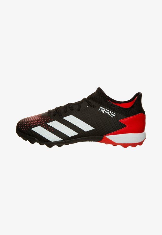 PREDATOR - Voetbalschoenen met kunststof noppen - core black/white/action red
