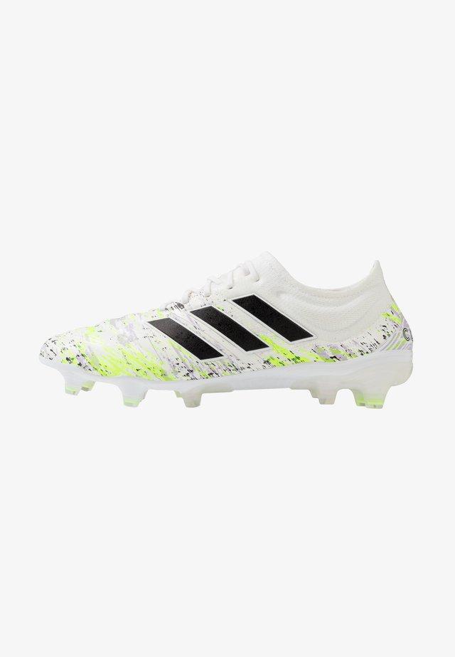 COPA 20.1 FG - Voetbalschoenen met kunststof noppen - footwear white/core black/signal green