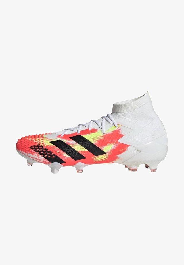 Voetbalschoenen met kunststof noppen - ftwr white/core black/pop