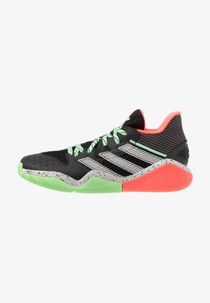 HARDEN STEPBACK - Basketball shoes - core black/grey two/glow mint