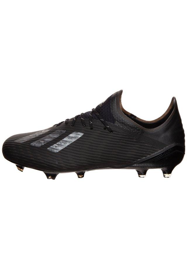 X 19.1 FG FUSSBALLSCHUH HERREN - Moulded stud football boots - core black / silver metallic