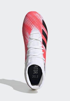 PREDATOR 20.3 SOFT GROUND BOOTS - Voetbalschoenen met kunststof noppen - white