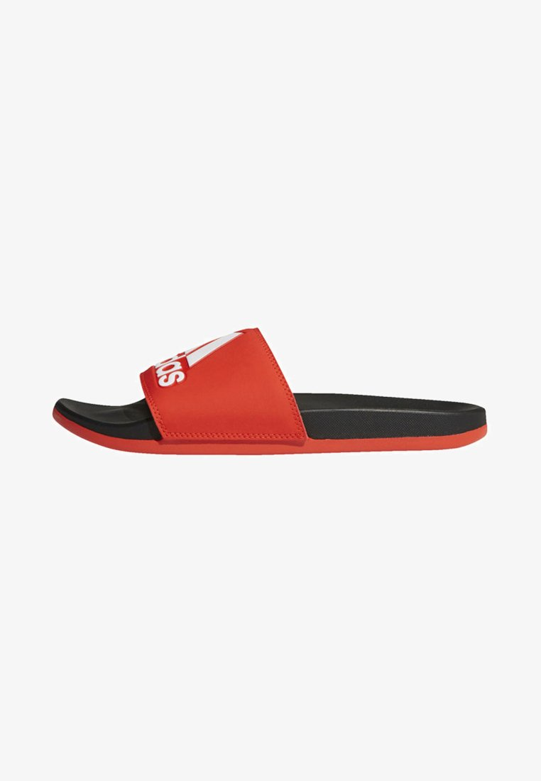 adidas Performance - ADILETTE CLOUDFOAM PLUS LOGO SLIDES - Badslippers - red