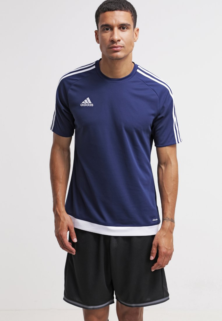 adidas Performance - ESTRO - T-shirt print - dunkelblau/weiß