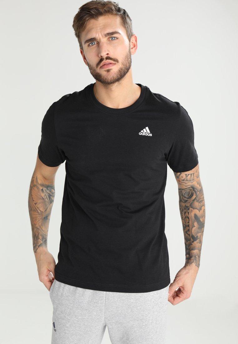 adidas Performance - BASE TEE - Basic T-shirt - black/white