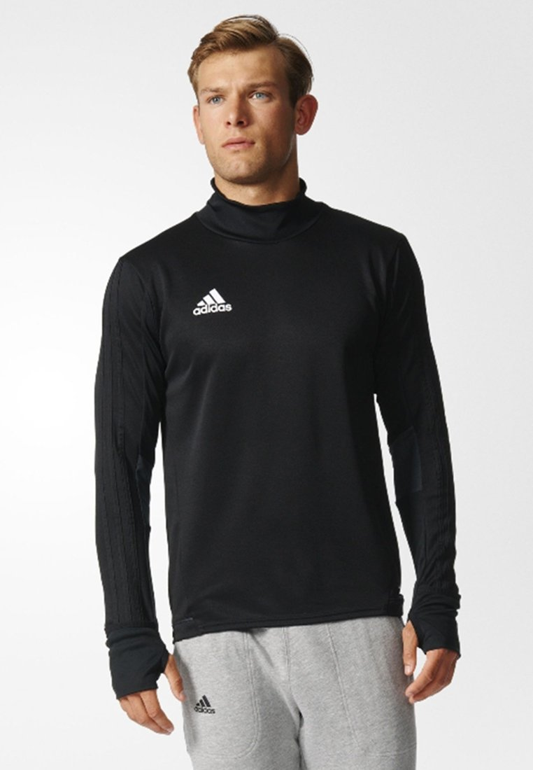 adidas Performance - TIRO 17  - Sports shirt - black/dark grey/white