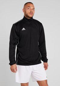 adidas Performance - CORE 18 TRAINING TOP - Koszulka sportowa - black/white - 0