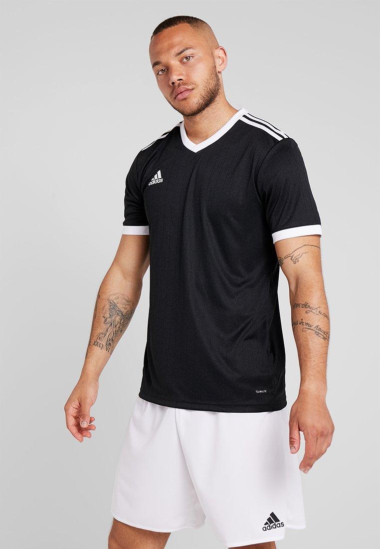 adidas Performance - TABELA 18 - Print T-shirt - black/white