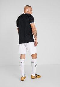 adidas Performance - TABELA 18 - Print T-shirt - black/white - 2