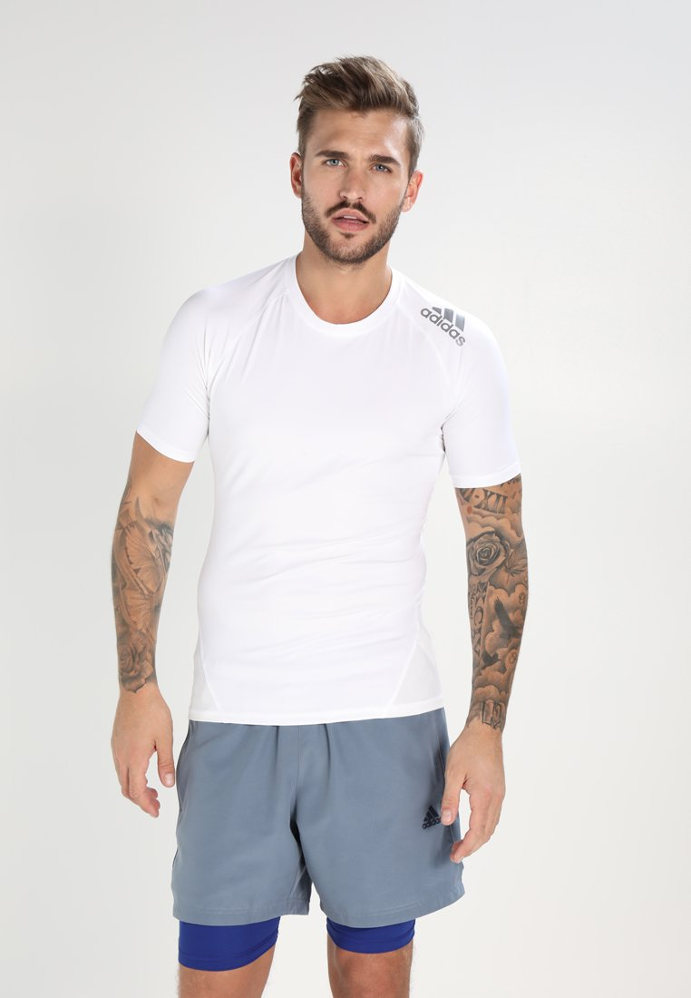 adidas Performance - ALPHASKIN - T-shirt basic - white
