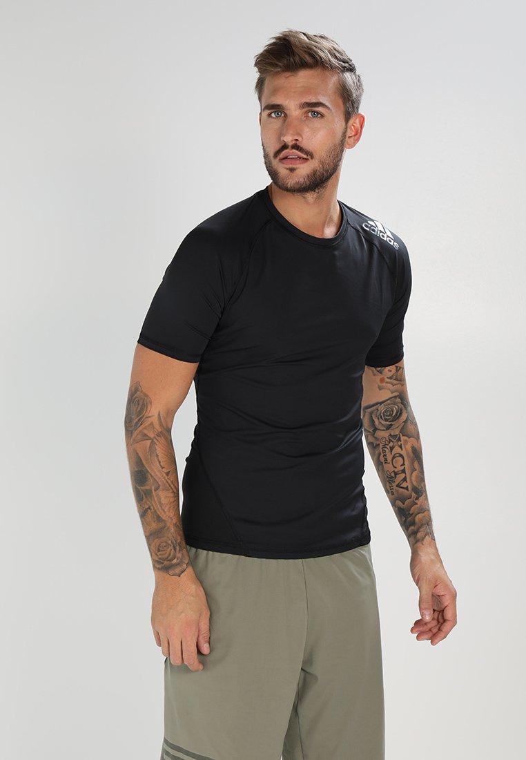 Basique Black Performance shirt AlphaskinT Adidas 0wNymPnOv8