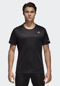 adidas Performance - RUN TEE  - Print T-shirt - black - 0