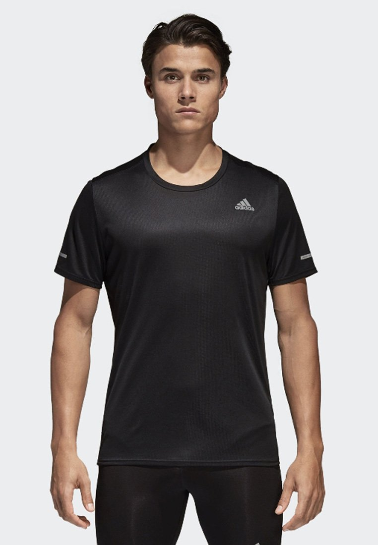 adidas Performance - RUN TEE  - Print T-shirt - black