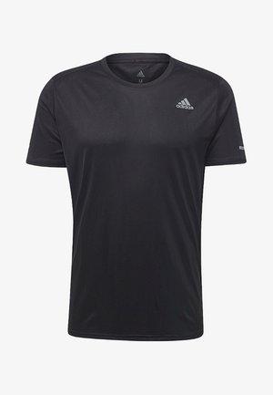 RUN TEE  - T-shirt z nadrukiem - black