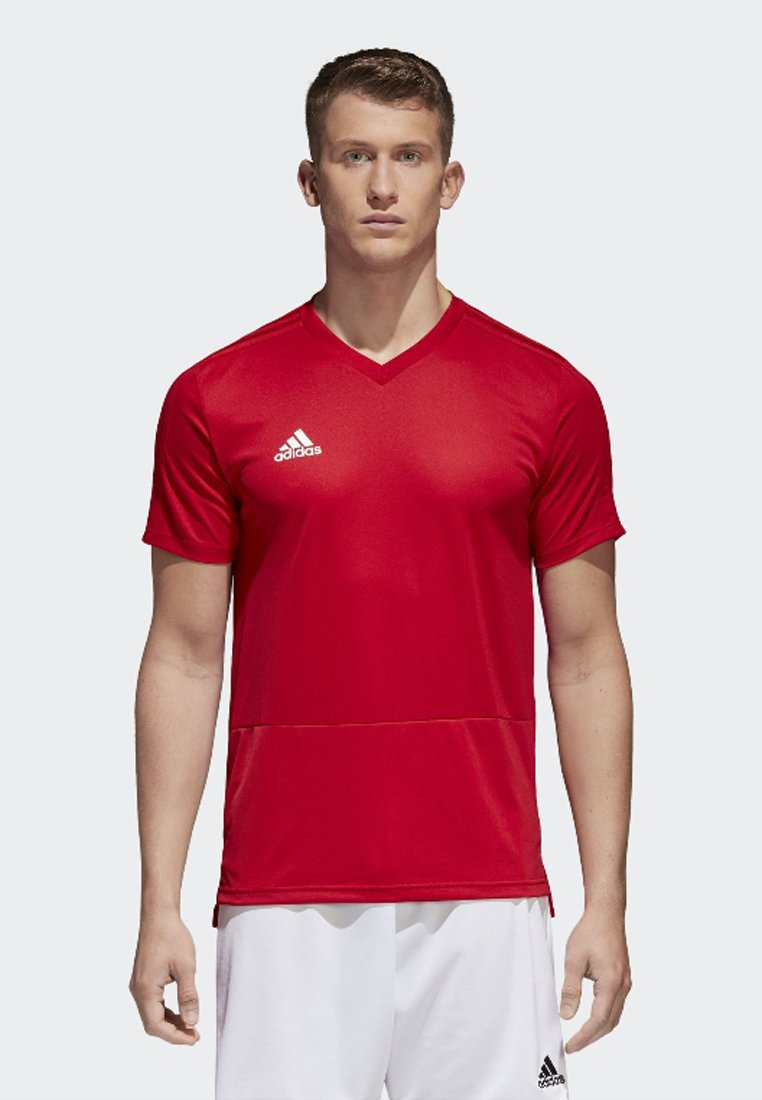 adidas Performance - CONDIVO 18 TRAINING JERSEY - T-shirts - power red/white