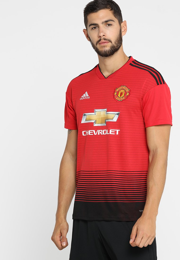 adidas Performance - MANCHESTER UNITED HOME JERSEY - Fanartikel - real red/black