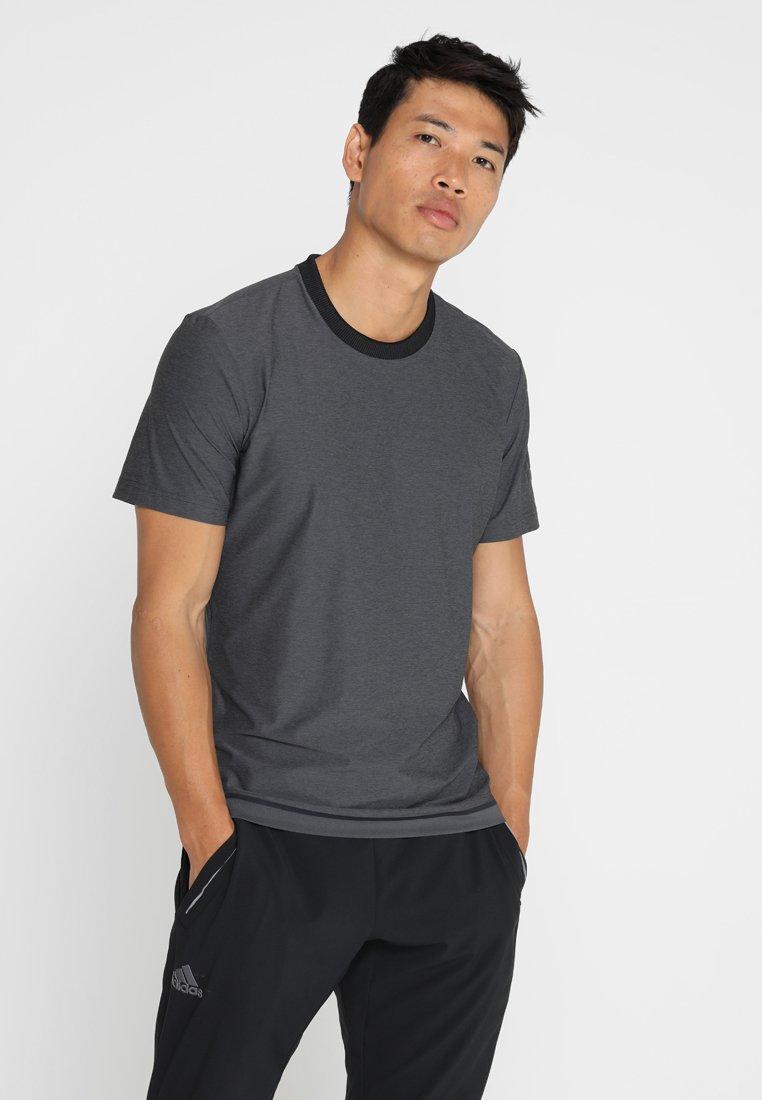 adidas Performance - BARRICADE TEE - T-shirt basic - black/heather