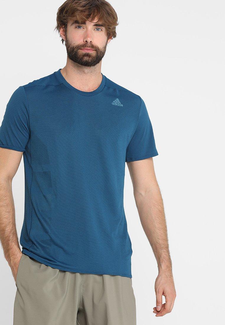 adidas Performance - SUPERNOVA TEE - Print T-shirt - legend marine