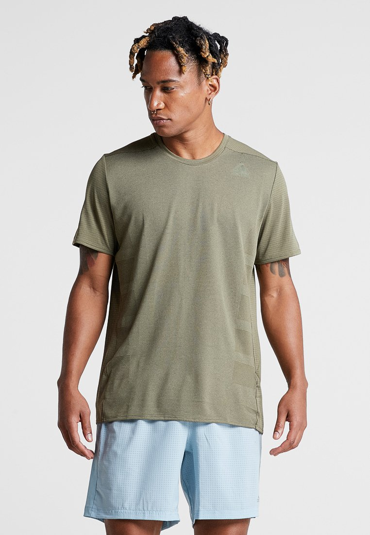 adidas Performance - SUPERNOVA TEE - T-Shirt print - khaki
