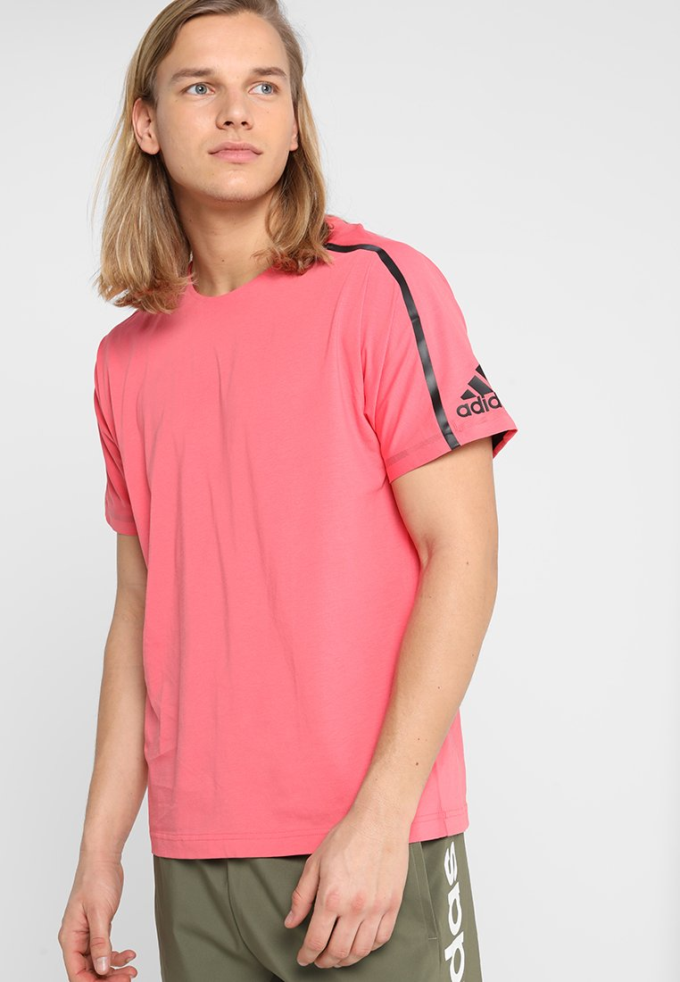 adidas Performance - ZNE TEE - T-shirt con stampa - pink