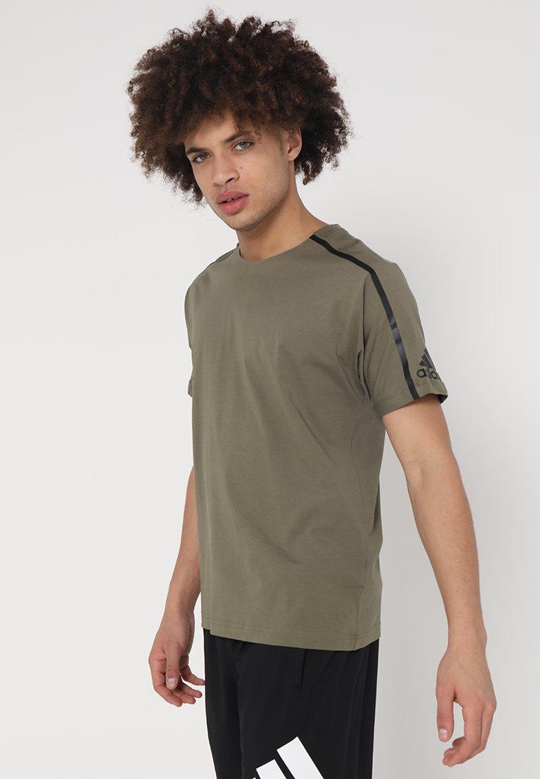 adidas Performance - ZNE TEE - T-Shirt print - raw khaki