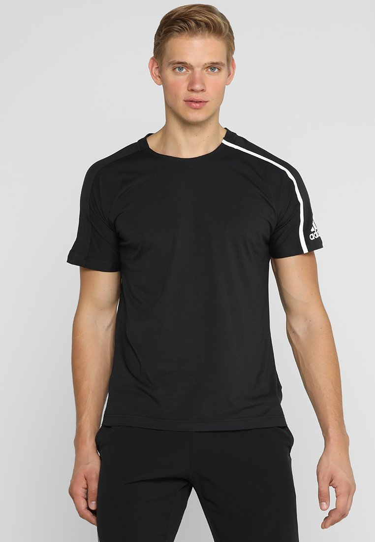 adidas Performance - ZNE TEE - T-Shirt print - black