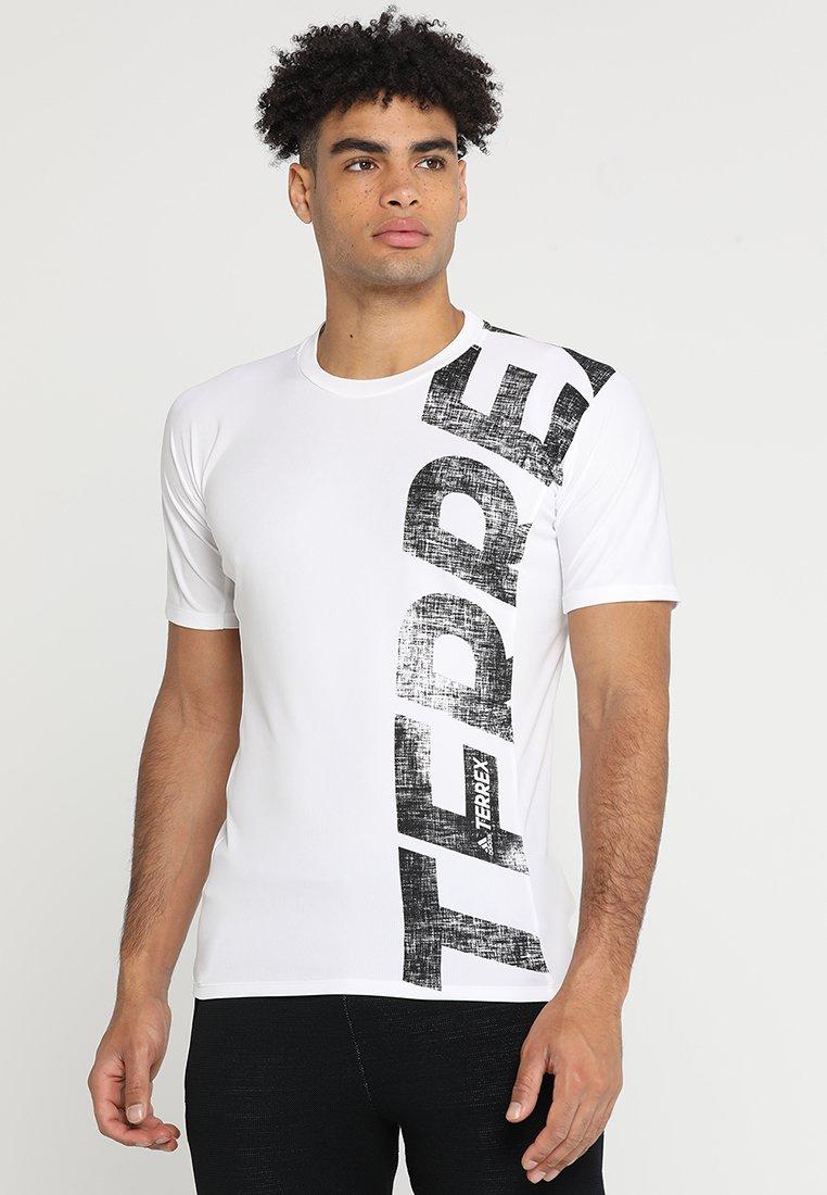 adidas Performance - TERREX TRAIL CROSS MOUNTAIN BIKE TEE SHIRT - T-shirt de sport - white