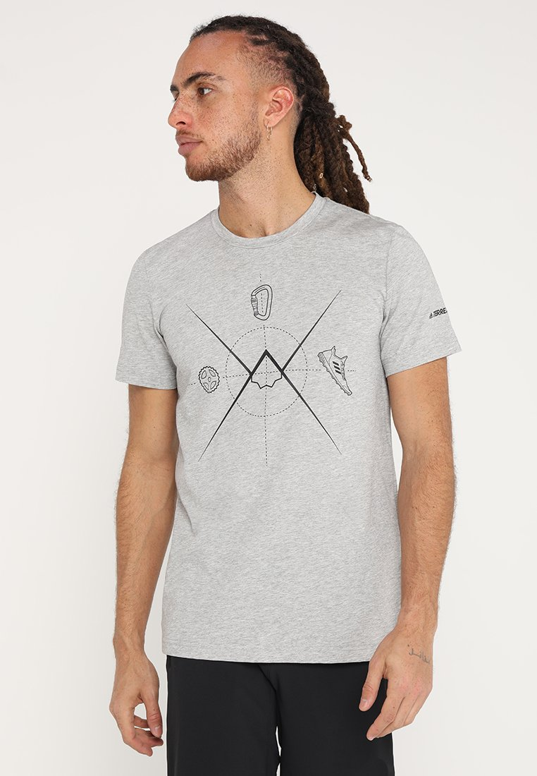 adidas Performance - TERREX ASCEND - Funktionsshirt - medium grey heather