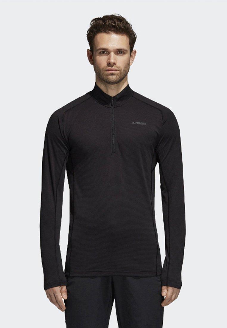 adidas Performance - TRACE ROCKER LONG-SLEEVE TOP - Fleece trui - black